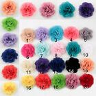 DIY 5/10/20PCS Satin Ribbon Rose Flower DIY Craft Wedding/Birthday Appliques hot