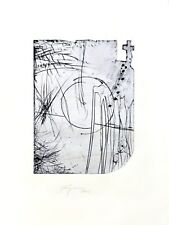 Felix Droese: Oben ein Kreuz. Original-Radierung, signiert