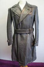 "Vintage WW2 officiers allemands horsehide leather coat taille 40"" - 42"""