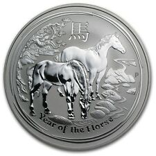 2014 Australia 1 oz Perth .999 Silver Lunar Horse (from mint roll, in capsule)