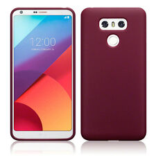 LG G6 Slim Rugged Protective Flexible TPU Gel Cover UEC™ Case Red Matte