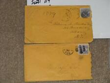 Postal History covers- Scott# 114 (2)