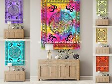 OM Mandala Tapestry Indian Cotton Wall Hanging Table Cover 10 PC Wholesale Lot