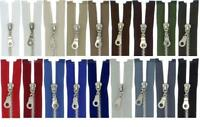 Reißverschluss MS Metall Silber/Glanz Nickel Metallreissverschlüsse teilbar 5mm