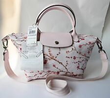 NWT Longchamp Le Pliage Small Neo Sakura Pinky Pink Crossbody Bag $250 Receipt!