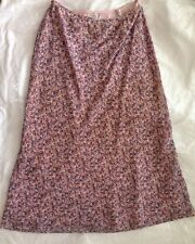 "SKIRT By LAURA ASHLEY Size 12 Petite Long Length ~34"" Floral Lined Material"