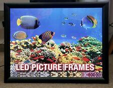 "Premium LED Picture Frame 16"" x 20"" Black Movie Poster Light Box Photo Display"