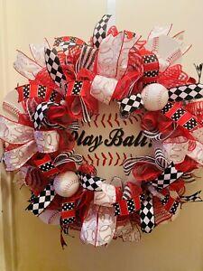 Baseball Wreath, Baseball Decor, Father's Day Wreath, Home Decor