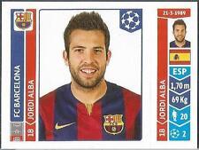 PANINI UEFA CHAMPIONS LEAGUE 2014-15- #421-BARCELONA-JORDI ALBA