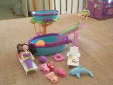 Polly Pocket Waterfalls Play set Mermaid Waterfall Pool Playset Lot