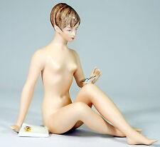 ROYAL DUX - Porzellanfigur EROTISCHER AKT Frauenakt Nackte Schönheit - BOHEMIA