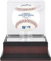 Los Angeles Dodgers Mahogany Baseball Logo Display Case