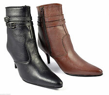 Ankle 100% Leather Stiletto Casual Women's Boots