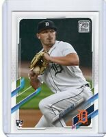 2021 TOPPS BASEBALL ROOKIE CARD # 123 - BEAU BURROWS - DETROIT TIGERS