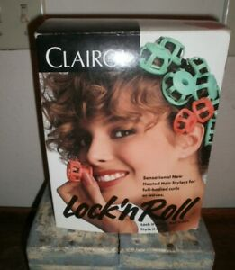 NEW VTG NOS Clairol LOCK N ROLL Hot Rollers SPOOLIES Hair Curlers Prom Pageant