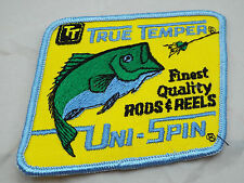 new Vintage True Temper Uni Spin Fishing Rods Reels Bass Fish Patch for Hats Cap