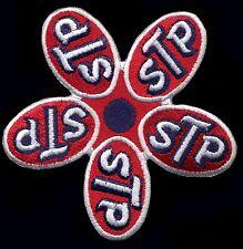 STP patch Badge Motor Oil Racing Hot Rod Drag Race Flower Retro Jacket