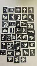 400 stencils for glitter tattoos / airbrush / face painting  fundraising