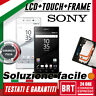 LCD DISPLAY+TOUCH SCREEN+FRAME ORIGINALE X SONY XPERIA Z5 SCHERMO E6603 VETRO!!!