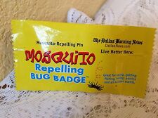 MOSQUITO REPELLING BUG BADGE PIN INSECT REPELLENT THE DALLAS MORNING NEWS