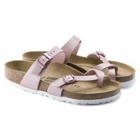 BIRKENSTOCK MAYARI SANDALS WOMEN ICY METALLIC ROSE BIRKO FLOR 1016008 FREE SHIP