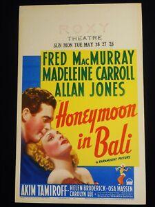 HONEYMOON IN BALI 1939 * FRED MACMURRAY * MADELEINE CARROLL * GORGEOUS POSTER!!