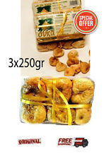 GREEK FAMOUS SUN DRIED FIGS FROM EVIA 3x250gr NEW PRODUCTION SEVERAL BRANDS