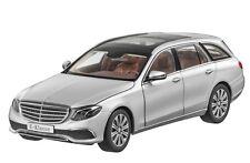 "Mercedes Benz S 213 E Klasse T Modell ""Exclusive"" Silber 1:18 Neu OVP"