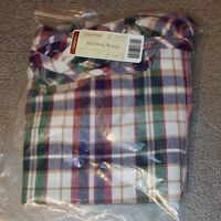 Longaberger Woven Traditions Plaid MEDIUM OVAL WASTE Basket Liner ~ Brand New!