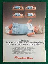 VV49 Pubblicità Advertising Clipping 19x13 cm (1975) AMBROGINA BAMBOLA FURGA