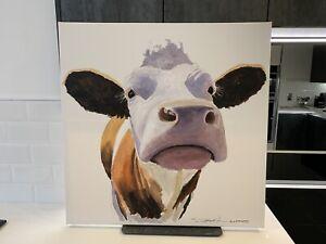 Original Canvas Cow Painting