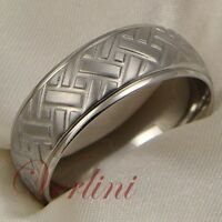 Mens Titanium Ring Dome 8mm Wedding Band Tire Design Matte Size 6-13 Verlini