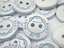 10 Baby Buttons 12mm (1/2 inch) Baby Boy Girl Clothing Knitting Sewing Buttons