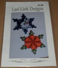 "Lori Link Christmas ""Snow Bunny & Carrots"" Tole Painting Pattern Pack NIP"