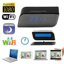 HD 1080P Wireless Wifi IP Clock Camera Motion Detect Infrared Night Vision Cam