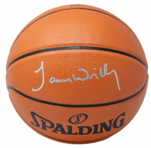James Worthy Signed Los Angeles Lakers Spalding Rep Basketball JSA ITP