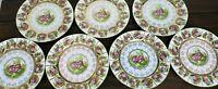 "Fragonard Love Story Beehive Mark Set of 7  Pink -3 & Blue -4 10.25"" Plates"