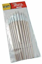 FFJ 12 Piece Artists Brush Set Fitch Type Brushes Natural Bristles (FFJABS01)