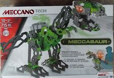 Meccano Tech Meccasaur Robotic Dinosaur Build ~ NEW 3 Ft Long Walks Roars 715 Pc