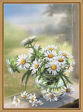 "Cross Stitch Kit NOVA SLOBODA CP3214 - ""Chamomile flower"""