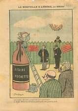 Caricature Politique Jean Jaures Affaire Rochette France 1910 ILLUSTRATION