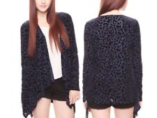 Forever21 Sheer Leopard Open Front Draped Nasty Gal Party Cardigan Coat Jacket