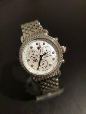 Genuine Michele Womens Watch Silver Stainless Bezel Bracelet MW03M01A1046 CSX