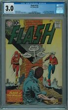 FLASH #123 CGC 3.0 FLASH OF TWO WORLDS 1ST MENTION OF EARTH 2 OFF-WHITE PAGES 19