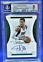 2014-15 Panini Flawless Ass'n AUTO Emerald 4/5 Giannis Antetokounmpo (BGS 9/10)
