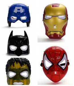 MARVEL SUPER-HERO, BATMAN, POWER RANGER MINION STORMTROOPER LED MASK PVC