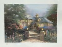 "Thomas Kinkade Signed ""Hollyhock House"" Lithograph #287/965 Gallery Proof w/ COA"