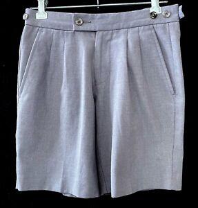 School Uniform Boys SHORTS Size 10 Bob Stuart Silver Grey summer pants light