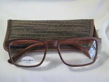 New Max Studio Unisex Matte Brown Wood Reading Glasses Readers +2.00