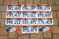 10 UTAH SKI GRAPHIC LICENSE PLATES TAGS DECOR BULK PRICE SET LOT SNOW ART DECOR